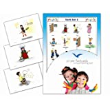 Verbs Flash Cards and Action Words for Language Learning - Verb Set 1 - Vocabulary Picture Cards - For Toddlers, Kids, Children and Adults (Color: Medium Flashcards)