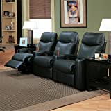 Showtime Casual Upholstered Reclining Theater Group by Coaster