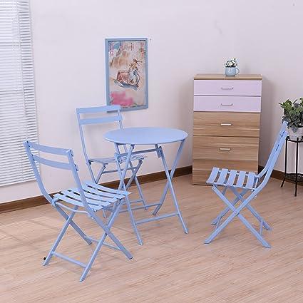 Gartenmöbel-Sets Vier Sets aus Eisen Tisch und Stuhle / Balkon Outdoor-Kombination Folding-Set / Garten Hof Falten Möbel Tische Stuhle Möbel Sets ( Farbe : B )