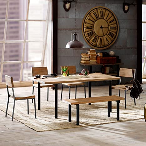 Dining Room Table Sets Wood Kitchen Rustic Natural Modern