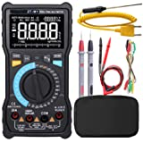 Manual & Auto Mode Digital Multimeter True RMS 3-Line Display 8000 Counts Auto-Ranging DMM VFC Temperature Capacitance AC/DC Voltage Current Battery Tester with Analog Bargraph (Tamaño: Manual & Auto Mode Multimeter)