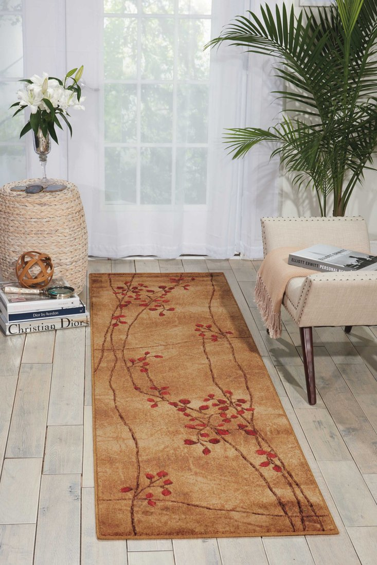 Nourison Somerset St74 Latte Round Area Rug 5 Feet 6 Inches By 5