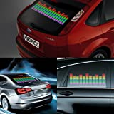 DIYAH Auto Sound Music Beat Activated Car Stickers Equalizer Glow LED Light Audio Voice Rhythm Lamp 45cm X 11cm / 18in X 4.5in (Multi Color) (Color: Multi Color)