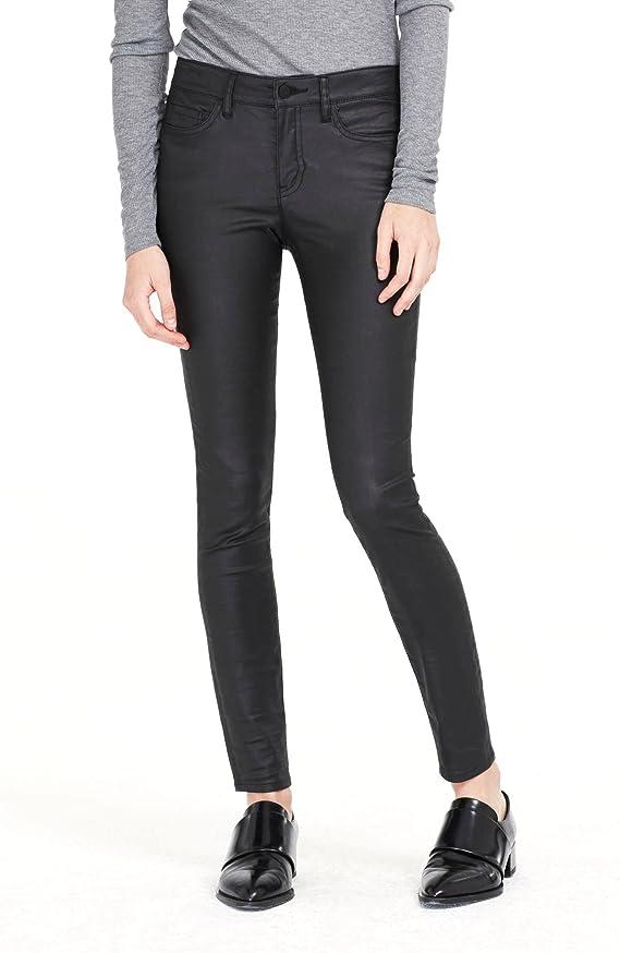 Armani Exchange Womens Coated Super Skinny Jean
