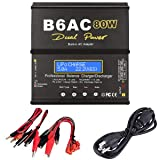 FPVKing HTRC H4AC Duo LiPo Balance Charger Mini RC Battery Charger Dual Port 20Wx2 2Ax2 for 2S 3S 4S LiPo Batteries