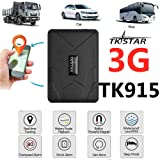 TKSTAR Hidden Vehicles 3G GPS Tracker, Waterproof Real Time Car GPS Locator Anti Theft Alarm Tracking Device Strong Magnet for Motorcycle Trucks Support Android and iOS (915 3G) (Tamaño: 915 3G)