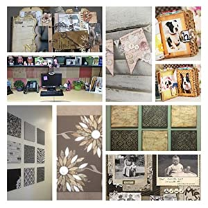 S&B 40 Sheets 7x7 Classic Floral Black Scrapbook Paper Book Pad Vintage Flowers Collections Wrapping Craft Photo Album Die Cuts Origami for Love Holiday Wedding Birthday Memory Gift (Color: Black, Tamaño: 7 x 7)