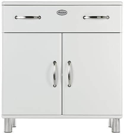 Tenzo 5127-005 Malibu - Designer Kommode 92 x 86 x 41 cm, MDF lackiert, weiß