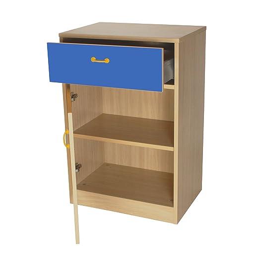 mobeduc armario, madera, azul oscuro, 60x 90x 42cm