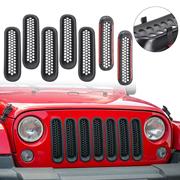 APS Compatible with 05-07 Ford F250 F350 Excursion Black Main Upper Billet Grille F65799H
