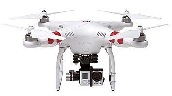 DJI Phantom DJIP2H3 Drône Quadricoptère radiocommandé 2 UAV avec Support Zenmuse H3-3D Gimbal pour Caméra Action Compatible avec GoPro Hero2/3/3+  et Action Caméra - Blanc