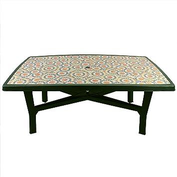 Schicker Gartentisch Campingtisch 180x100x72cm Vollkunststoff