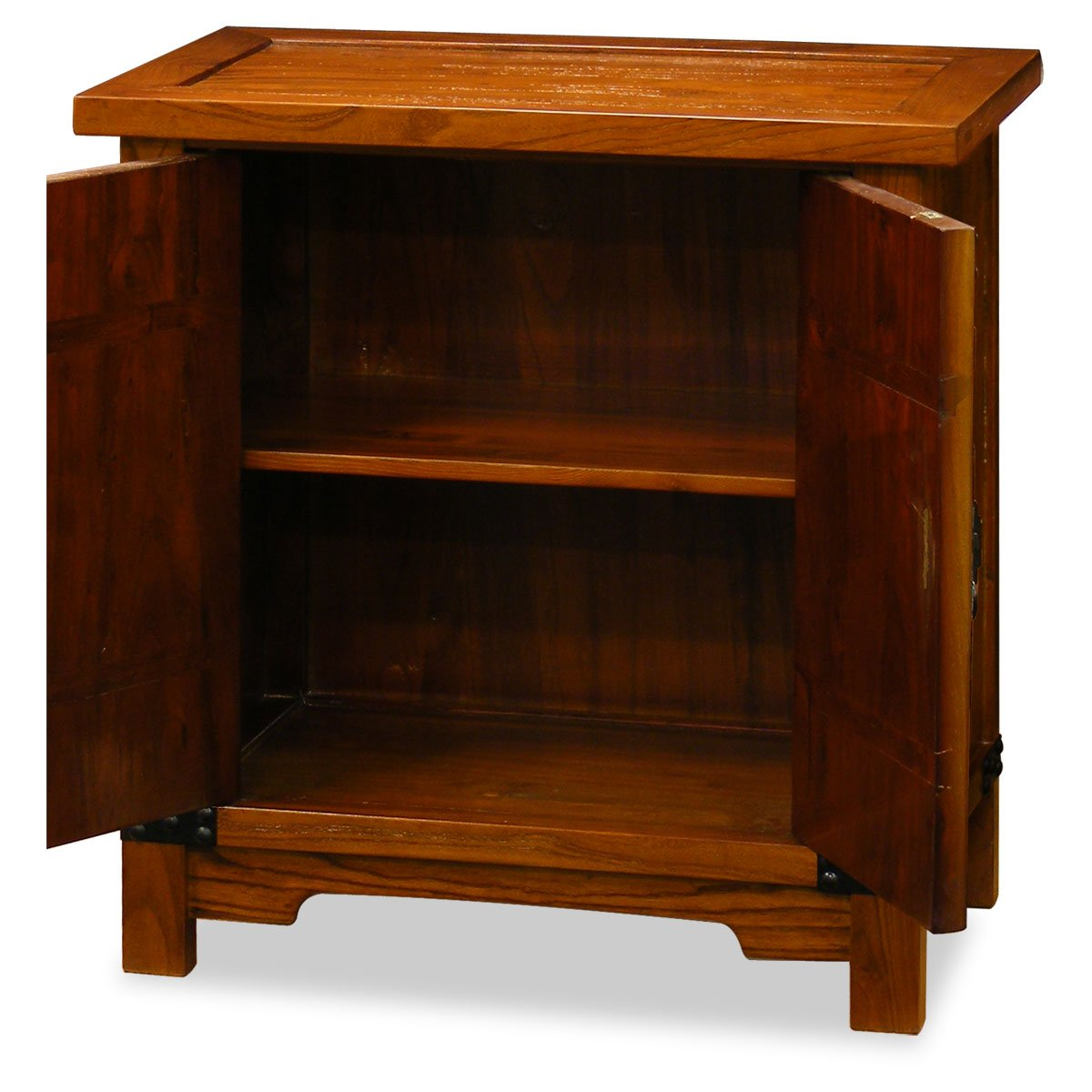 China Furniture Online Elmwood Cabinet, Northern Chinese Style Cabinet Natural Finish 1