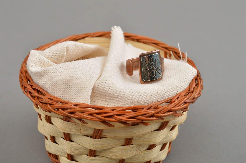 Schöner massiver brauner eleganter handgemachter Ring aus Kupfer Ameise günstig kaufen