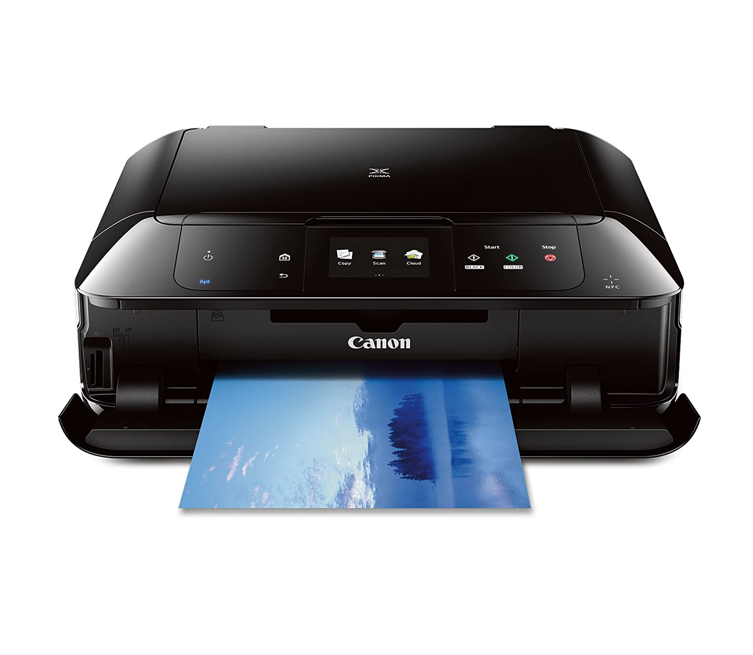 CANON MG7520 Wireless Color Cloud Printer with Scanner and Copier: Mobile, Smart Phone, Tablet Printer, and AirPrint(TM) Compatible,Black