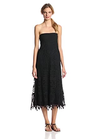 Twelfth Street by Cynthia Vincent Women's Lace Convertible Maxi Skirt Dress, Black, P