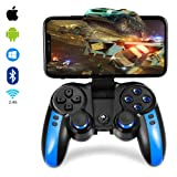 2.4G Wireless Mobile Game Controller for Android/iOS Phone/Tablet PC/TV Box Direct-Play Bluetooth Gaming Gamepad Joystick for Galaxy (Color: Blue)