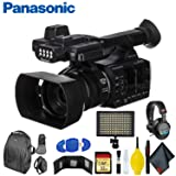 Panasonic AG-AC30 Full HD Camcorder with Touch Panel LCD Screen & Built-in LED Light - Ultimate Bundle (Color: Ultimate Bundle)