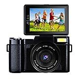 Digital Camera Vlogging Camera 24MP Camcorder Full HD 1080p Camera Flip Screen 180 Degree Rotation (A1) (Color: A1, Tamaño: D1)