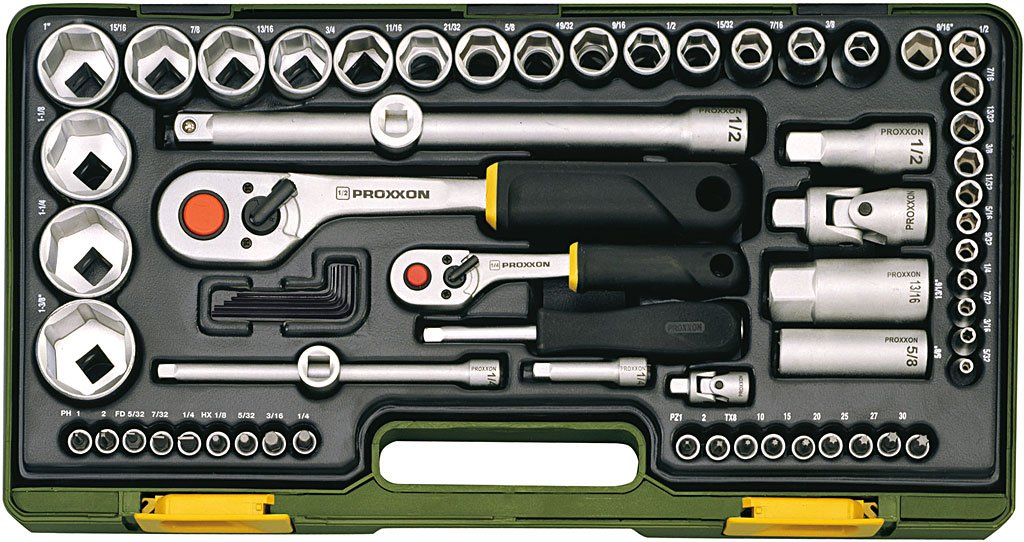 Proxxon 23294 Steckschlüsselsatz für zöllige Schraubengrößen, 65teilig  BaumarktKundenbewertung und Beschreibung