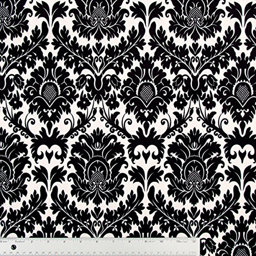 Black And White Fleur De Lis Plush Minky Fabric - By The Yard front-998727