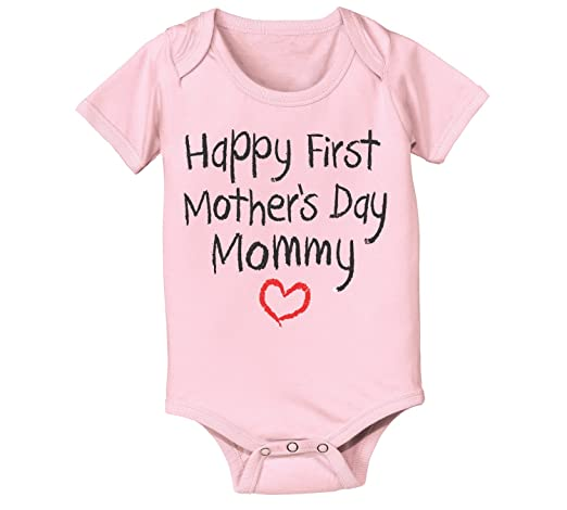 Happy First Mothers Day Mommy Infant Baby One Piece