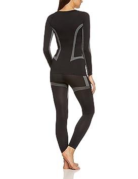 Schiesser Long Pants Long Caleçon ski garçon Noir Leggings Neuf