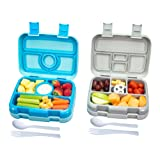 Bizz Travel Bento Box Set Lunch Boxes with Utensils w/Removable Microwaveable, Dishwasher Safe Tray (2-Pack) Lunchbox Portable Portion Control Meal Prep Containers | Reusable, BPA Free for Kids Adults (Color: Lunchboxes, Tamaño: Lunchboxes)