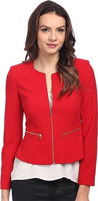 Calvin Klein Women's Solid Zip Front Jacket