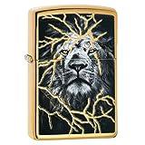 Zippo Lightening Lion Design Pocket Lighter (Color: Zippo Lightening Lion Design Pocket Lighter)