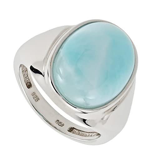 Sogni D 'oro Silver Time Women's Ring 925 Sterling Silver Rhodium Plated Larimar