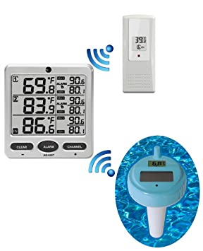 Wireless Thermometer In Swimming  Pool Spa Hot Tub Waterproof  Thermometer FS