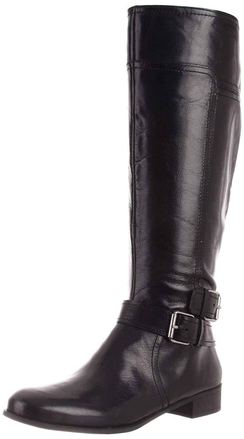 Nine West Women's Shiza Knee-High Boot,Black Leather,9 M US ( $20 off $100 Discount)