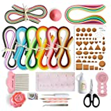 JUYA Paper Quilling Kits with 960 Strips and 13 Tools (Pink Tools, Width 3mm Have Glue) (Color: Pink Tools, Tamaño: Width 3mm have Glue)