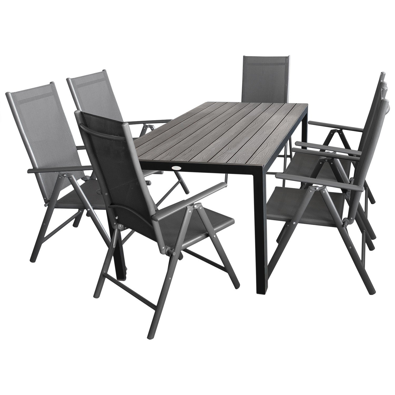 7tlg gartengarnitur gartenm bel terrassenm bel set sitzgruppe sitzgarnitur aluminium polywood. Black Bedroom Furniture Sets. Home Design Ideas