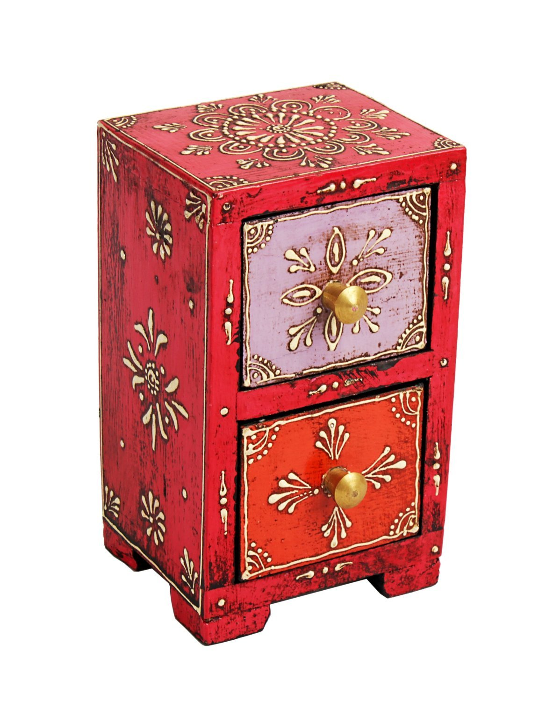 Caja artesana de madera