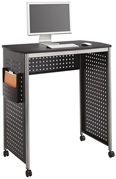 Safco 1908BL Scoot Stand Up Workstation - Black