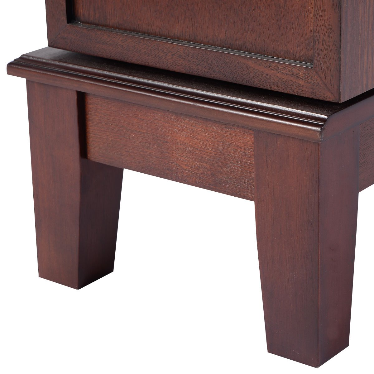 Giantex Wood Jewelry Cabinet Armoire Storage Box Chest Stand Organizer Necklace