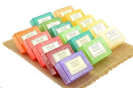 Khadi Assorted Natural Handmade Soaps - Flavour Fresh (Pack of 16)