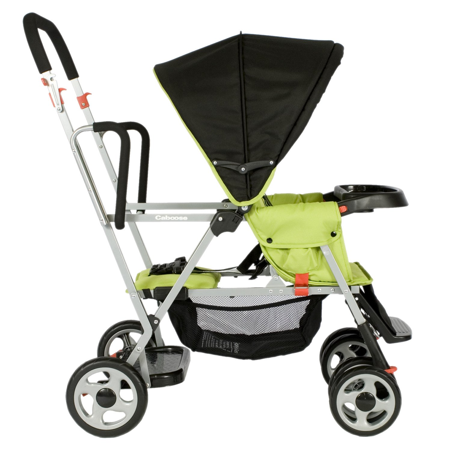 Joovy Caboose Stand-On Tandem Stroller, Appletree Review