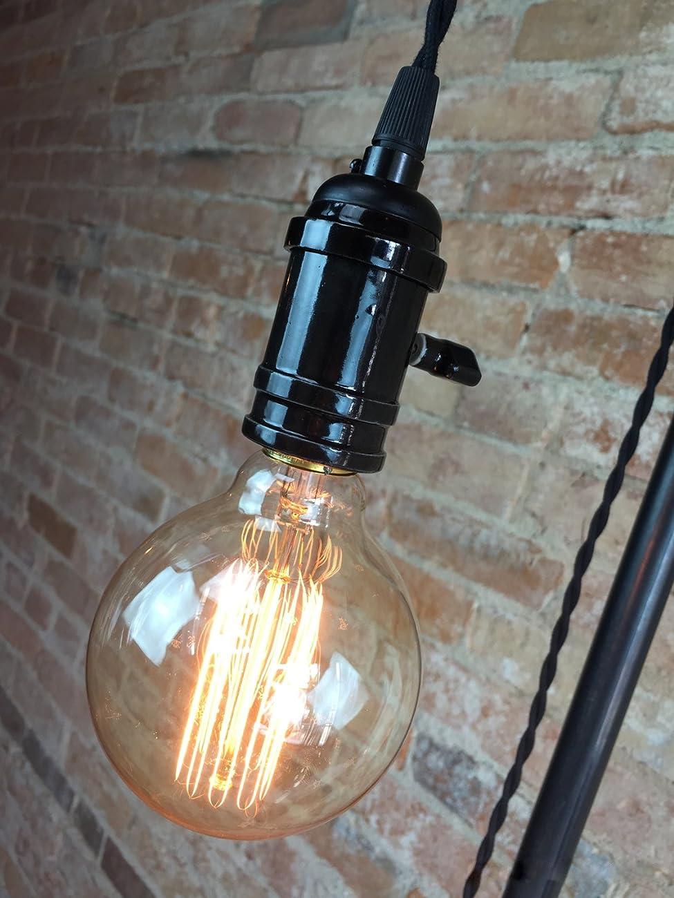 Industrial Style Floor Lamp - Pendant Edison Bulb 1