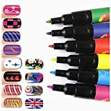 StillCool Nail Art Pen Painting Design Tools Kit Set Drawing Dotting for UV Gel Polish Assorted Colour (6 Random Color) (Color: 6 Random Color)