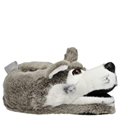 Comfy Feet Gray Wolf Animal Feet Slippers