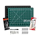 WA Portman Cutting Mat and Craft Knife Set | 9x12-inch Self Healing Cutting Mat | 7-pc Hobby Knife Set with 6 Unique Blades and 10 Extra Blades | The Perfect Cutting Kit for Crafts of All Kinds (Tamaño: 9x12)