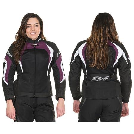RST ventilé brooklyn 1184 pour femme noir/framboise air veste de moto pour femme (uK 10)