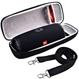 COMECASE Hard Travel Case for JBL Charge 4 Portable Waterproof Wireless Bluetooth Speaker [ Fits USB Plug and Cable & More ] (Color: Black)