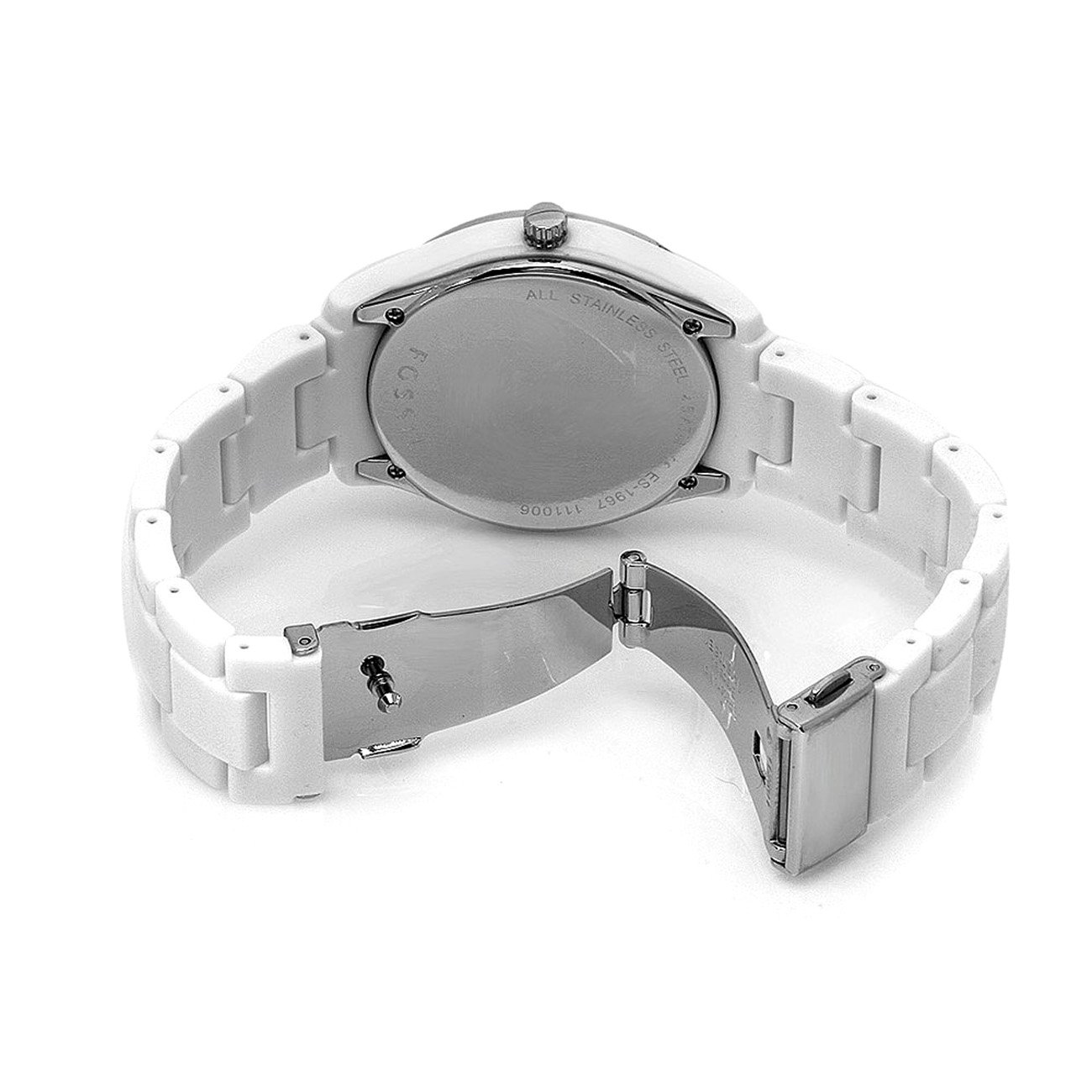 Đồng hồ Fossil Womens ES1967 Stella Day/ Date Display Quartz White Dial Watch