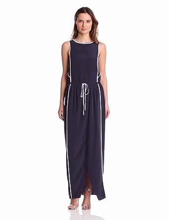 Kenneth Cole New York Women's Deandra Maxi Dress, Deep Blue Sea, 0