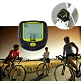 Wireless Bike Computer, Waterproof Bicycle Speedometer Kit Multi-function Auto Wake-up Bike Odometer, LCD Wireless Bike Computer Bicycle Speedometer Motion Sensor for Biking Cycling Accessories