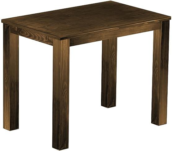 Brasil alta classico Rio 'da tavolo 140x 90cm in legno di pino anticato, colore rovere